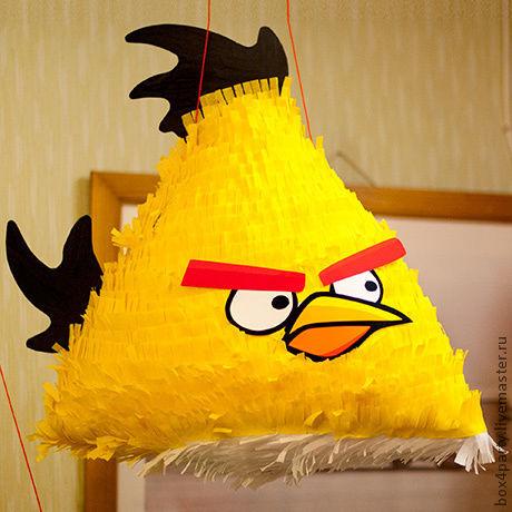 Праздничная атрибутика ручной работы. Ярмарка Мастеров - ручная работа. Купить Пиньята  «Angry Birds».. Handmade. Пиньята, день рождения