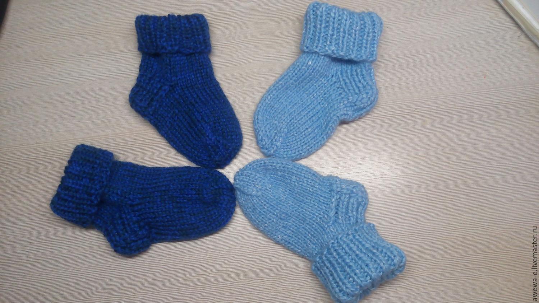 Вязание спицами носки для мальчиков