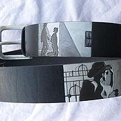 Аксессуары handmade. Livemaster - original item PERSONAL JESUS leather strap. Handmade.