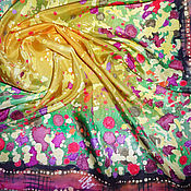 Аксессуары ручной работы. Ярмарка Мастеров - ручная работа Батик платок «Праздник». Handmade.