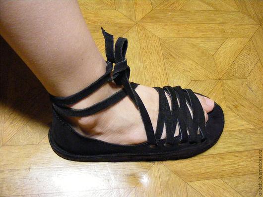 Обувь ручной работы. Ярмарка Мастеров - ручная работа. Купить Сандалии римские. Handmade. Сандалии из кожи, сандалии римские
