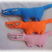 Куклы и игрушки ручной работы. Ярмарка Мастеров - ручная работа коты хитрун,молчун и ворчун. Handmade.