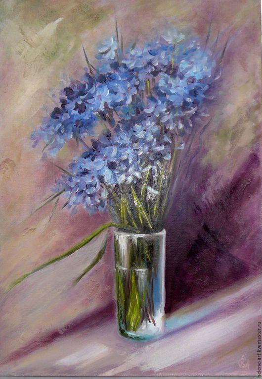 """Картины цветов ручной работы. Ярмарка Мастеров - ручная работа. Купить Картина маслом """"Букетик"""" повтор 35х50 (цветы, натюрморт с цветами). Handmade."""