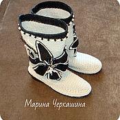 Обувь ручной работы handmade. Livemaster - original item Knitted shoes. Summer knitted boots