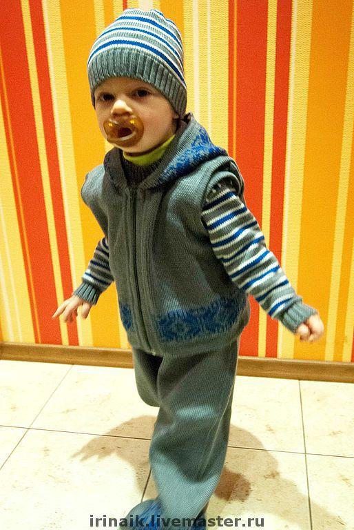 """Одежда для мальчиков, ручной работы. Ярмарка Мастеров - ручная работа. Купить Комплект """"Маленький проказник"""". Handmade. Комплект, детская шапочка"""