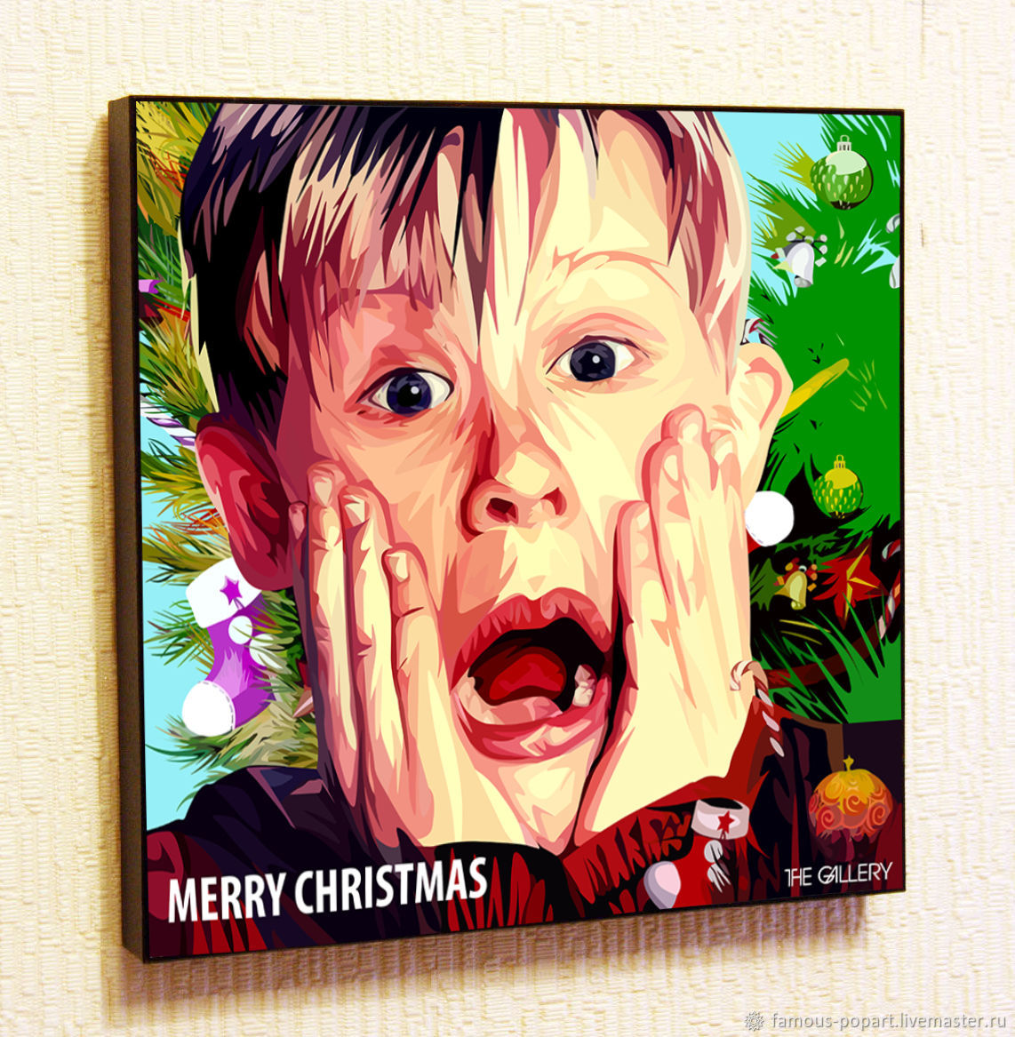 Picture Poster 'Home Alone' for Christmas in the style of Pop Art, Pictures, Moscow,  Фото №1
