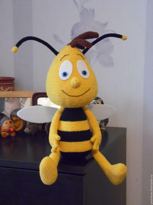 Игрушки животные, ручной работы. Ярмарка Мастеров - ручная работа. Купить Пчёлка Вилли.. Handmade. Желтый, пчелка, игрушка, для взрослых