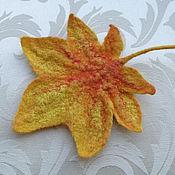 Для дома и интерьера ручной работы. Ярмарка Мастеров - ручная работа валяный кленовый листок. Handmade.