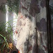 Аксессуары ручной работы. Ярмарка Мастеров - ручная работа Шаль шелковая эко принт. Handmade.