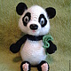 """Игрушки животные, ручной работы. Ярмарка Мастеров - ручная работа. Купить """"Панда"""". Handmade. Чёрно-белый, мишка ручной работы"""