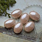 Материалы для творчества handmade. Livemaster - original item Pearl rhinestones Vanilla 13h18 mm oval. Handmade.