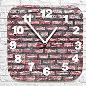 Для дома и интерьера handmade. Livemaster - original item Brick wall clock wall Clock gift. Handmade.