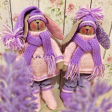 Dolls & toys. Livemaster - original item La pareja de conejitos. Handmade.