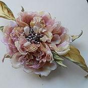 Украшения handmade. Livemaster - original item Silk flowers. Decoration brooch pin old ENGLISH ROSE
