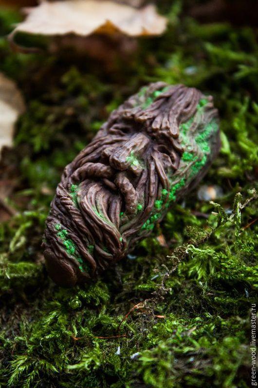 Кулоны, подвески ручной работы. Ярмарка Мастеров - ручная работа. Купить Древень. Кулон.. Handmade. Зеленый, дух, лес