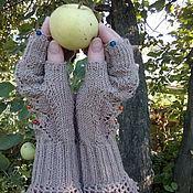 """Аксессуары ручной работы. Ярмарка Мастеров - ручная работа Митенки вязаные """"Осень"""". Handmade."""