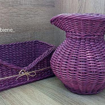 Для дома и интерьера ручной работы. Ярмарка Мастеров - ручная работа Наборы: плетеный набор для кухни. Handmade.