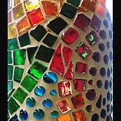 Посуда ручной работы. Ярмарка Мастеров - ручная работа Бутылка подарочная ,украшенная мозаикой.. Handmade.