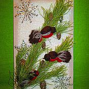 Подарки к праздникам ручной работы. Ярмарка Мастеров - ручная работа Панно с птичками. Handmade.