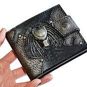 Сумки и аксессуары handmade. Livemaster - original item Predator - Leather wallet - Gift for men - gift for boyfriend - wallet. Handmade.