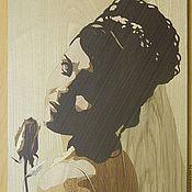 """Картины и панно ручной работы. Ярмарка Мастеров - ручная работа Портрет в технике маркетри """"Невеста"""". Handmade."""