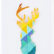 """Брошь-булавка ручной работы. Ярмарка Мастеров - ручная работа Брошь """"Dear deer"""". Handmade."""