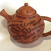 Посуда ручной работы. Ярмарка Мастеров - ручная работа Глиняный чайник. Handmade.
