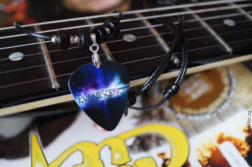 """Черный кулон-медиатор на шнурке с логотипом группы """"Evanescence"""", Кулоны подвески, Москва, Фото №1"""