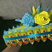 Цветы и флористика ручной работы. Ярмарка Мастеров - ручная работа Кусочек торта из конфет. Handmade.