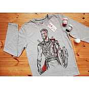 Одежда handmade. Livemaster - original item Jacket with hand painted