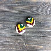 """Украшения ручной работы. Ярмарка Мастеров - ручная работа Серьги """"Треугольники"""". Handmade."""