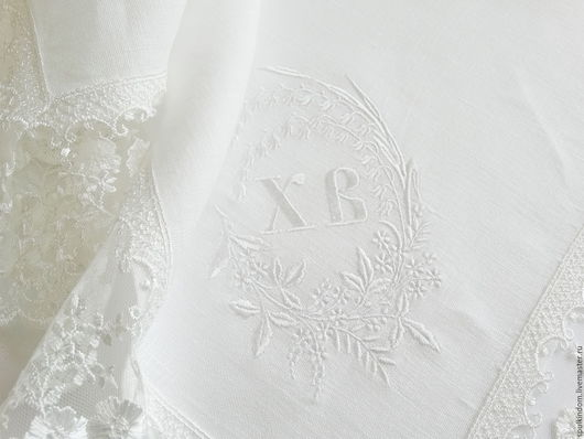 Пасхальная салфетка с вышивкой `Венок из ландышей`   `Шпулькин дом` мастерская вышивки