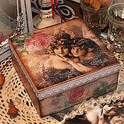"""Для дома и интерьера ручной работы. Ярмарка Мастеров - ручная работа шкатулка  """"Прикосновение ангела"""". Handmade."""