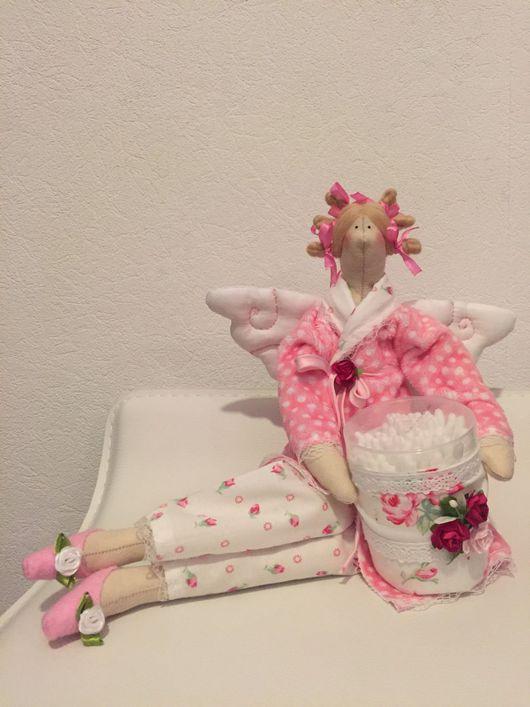 Куклы Тильды ручной работы. Ярмарка Мастеров - ручная работа. Купить Тильда банный ангел или хранительница ватных палочек. Handmade.