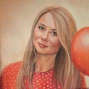 Картины и панно ручной работы. Ярмарка Мастеров - ручная работа женский портрет. Handmade.