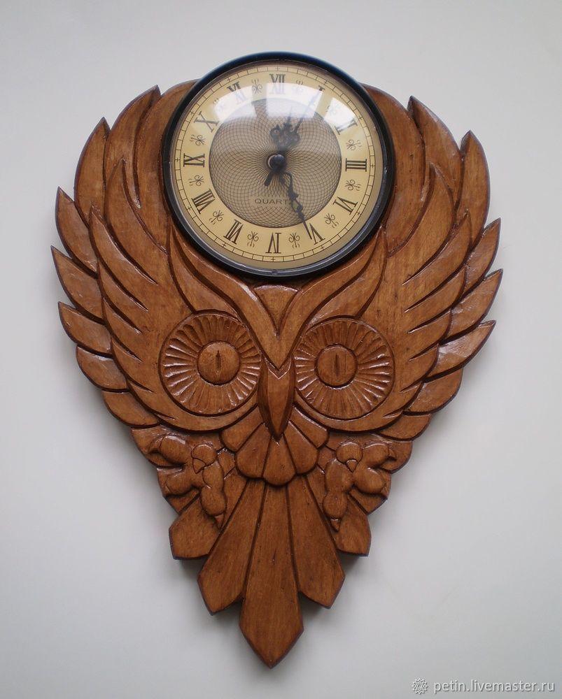 Деревянные часы Филин, Часы классические, Орск,  Фото №1