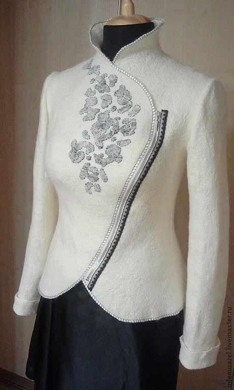 Пиджаки, жакеты ручной работы. Ярмарка Мастеров - ручная работа. Купить Куртка-пиджак. Handmade. Белый, асимметричный