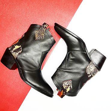 Обувь ручной работы. Ярмарка Мастеров - ручная работа Ботинки казаки. Handmade.