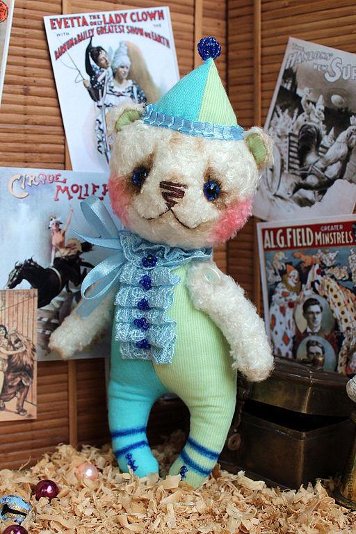 Мишки Тедди ручной работы. Ярмарка Мастеров - ручная работа. Купить Мишка Дилли. Handmade. Мишка, цирк, салатовый цвет