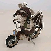 Игрушки ручной работы. Ярмарка Мастеров - ручная работа Мышь байкер. Handmade.