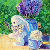 Картины и панно handmade. Livemaster - original item Oil painting on canvas with stretcher 40/50. Lavender summer.. Handmade.