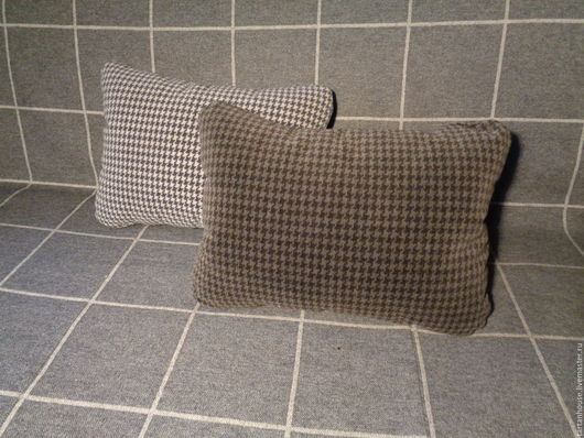 """Текстиль, ковры ручной работы. Ярмарка Мастеров - ручная работа. Купить Подушки  """"Гусиная лапка"""". Handmade. Серый, уютный подарок"""