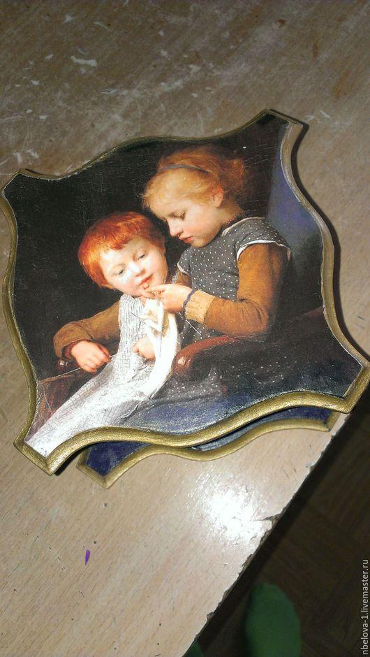 Шкатулки ручной работы. Ярмарка Мастеров - ручная работа. Купить дети. Handmade. Тёмно-синий, купить подарок, деревянная заготовка
