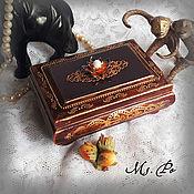 """Для дома и интерьера handmade. Livemaster - original item Шкатулка """"Dark shebby"""". Handmade."""