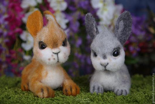 Игрушки животные, ручной работы. Ярмарка Мастеров - ручная работа. Купить Кролики Веня и Кеша. Handmade. Кролики, Валяние