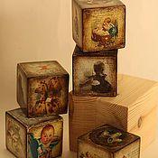 Для дома и интерьера handmade. Livemaster - original item cubes-for baby`s little bears. Handmade.