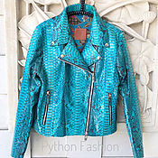 handmade. Livemaster - original item Jacket made of Python leather biker jacket. Handmade.