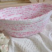 Для дома и интерьера handmade. Livemaster - original item Textile basket. Handmade.