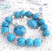 Украшения handmade. Livemaster - original item Turquoise set Gamma di Colori. Handmade.