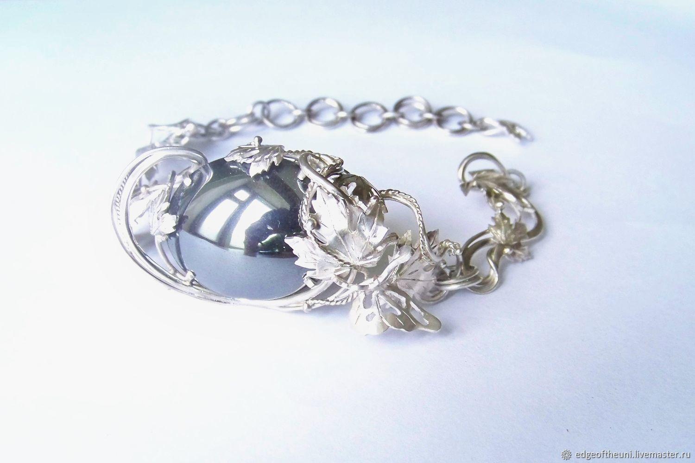 WIRE WRAP.  Bracelet 'Mirror of the night', Bead bracelet, Krasnodar,  Фото №1
